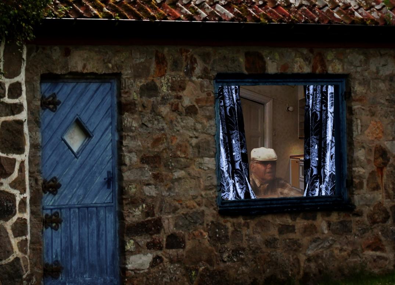 Morfar i fönster