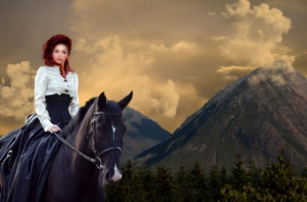 Elana on the way to Lunareth