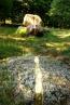 Annorlunda konstverk mitt i skogen